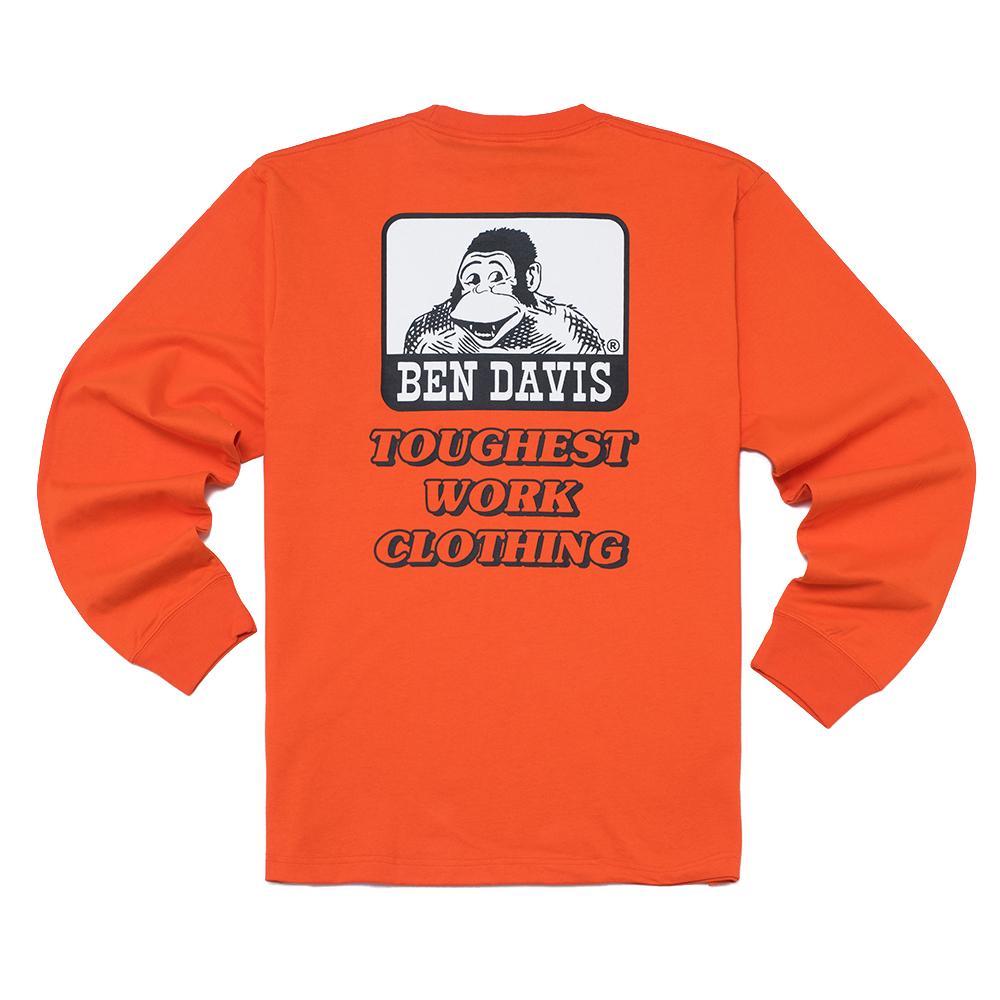 벤 데이비스 화이트라벨 아이콘 롱 슬리브 티셔츠